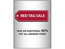 Picture of Red Tag Sale Poster (RTS2P#011)
